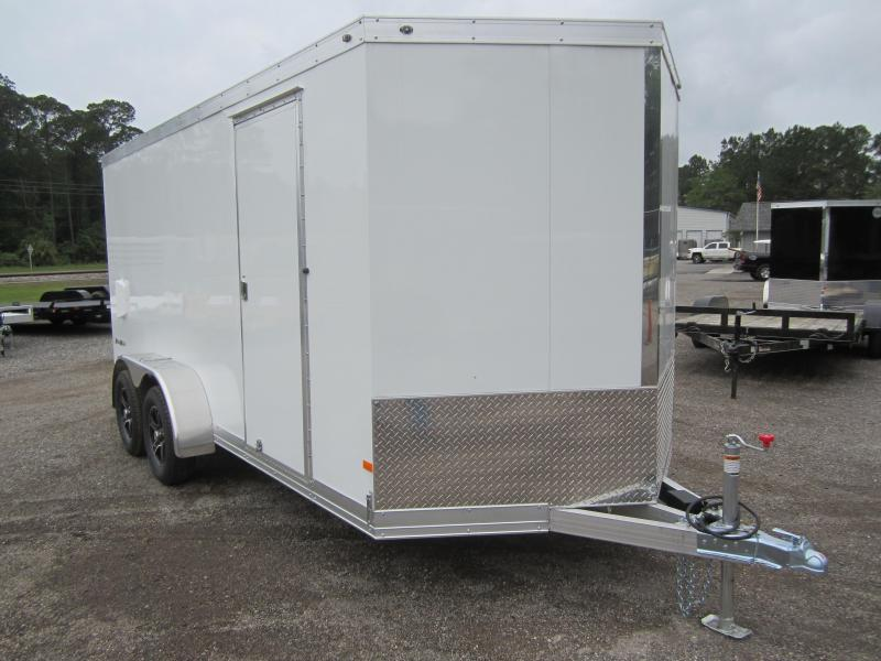 WAUV7X1622 WELLS CARGO 7X16 SILVER SPORT ALUMINUM ENCLOSED CARGO TRAILER W/ CUSTOM OPTIONS