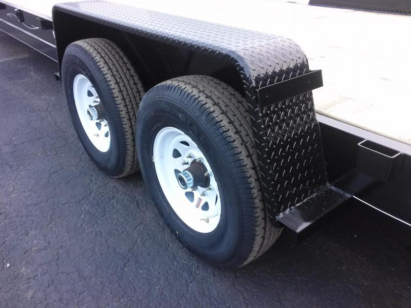 CH3614G TEXAS TRAILERS GOOSENECK 36' (2) CAR HAULER W/ TOOLBOX AND SPARE TIRE