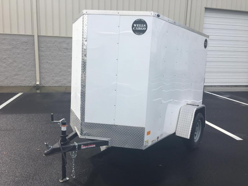 WCVG58S WELLS CARGO 5X8 V-100 SERIES ENCLOSED CARGO TRAILER