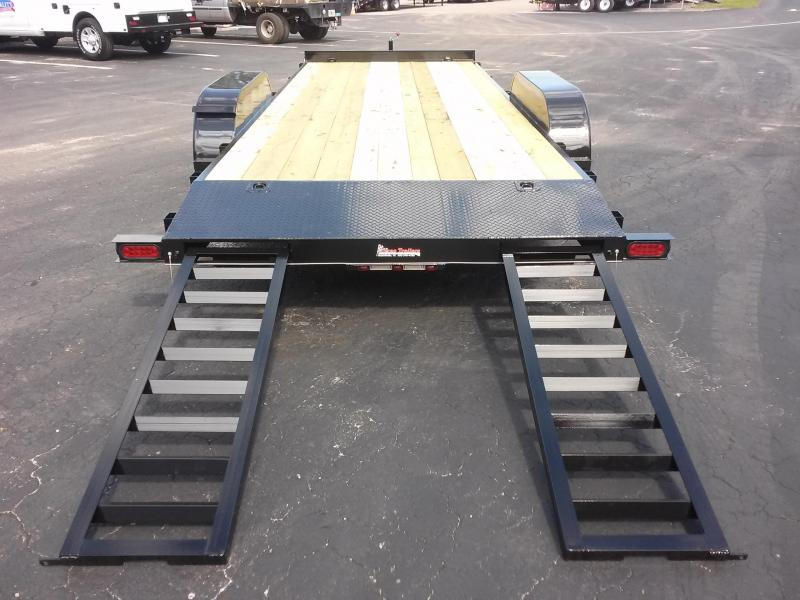 CH2010 TEXAS TRAILERS 20' CAR HAULER W/ SLIDE OUT RAMPS