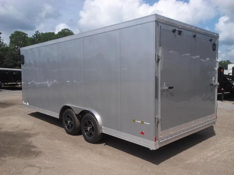 Wauv85x2022 Wells Cargo 8 5x20 Silver Sport Aluminum Enclosed Car