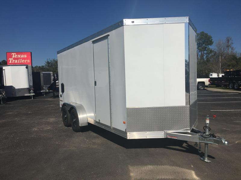 2016 WELLS CARGO 7X16 SILVER SPORT ALUMINUM ENCLOSED CARGO TRAILER W/ CUSTOM OPTIONS