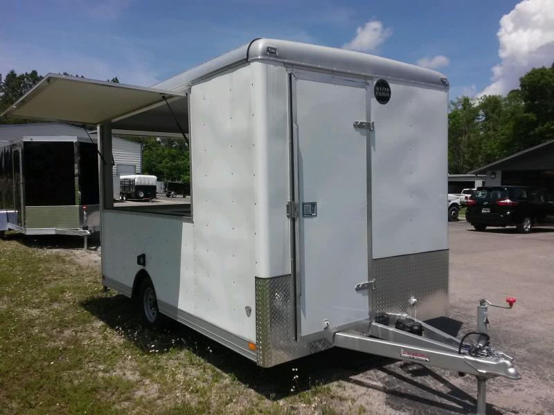 CLW121 WELLS CARGO 7X12 CONCESSION TRAILER W/ CUSTOM OPTIONS