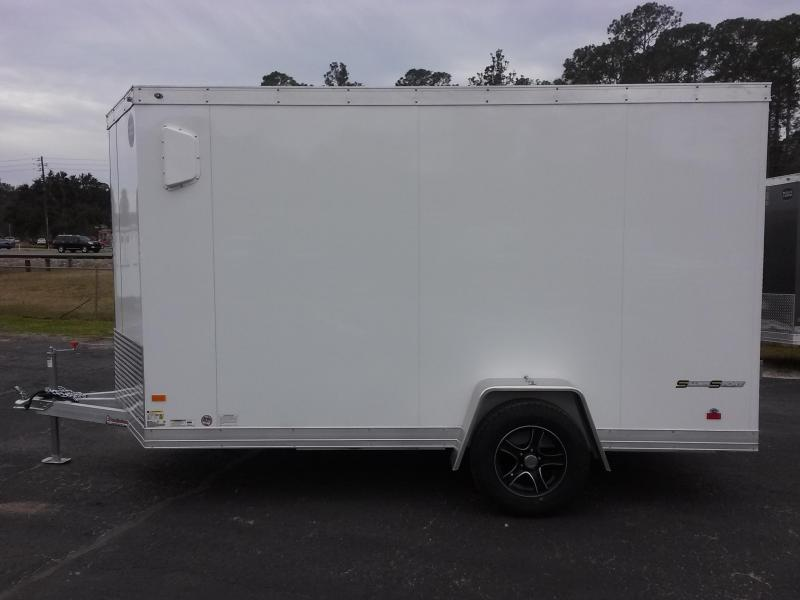 Wauv6x121 wells cargo 6x12 silver sport aluminum enclosed for 6x12 wood floor trailer