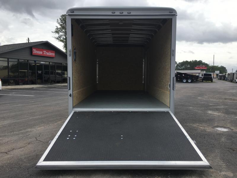 CW1622-102 WELLS CARGO 7X16 CARGO WAGON ENCLOSED CARGO TRAILER W/ CABLE-LESS REAR RAMP DOOR