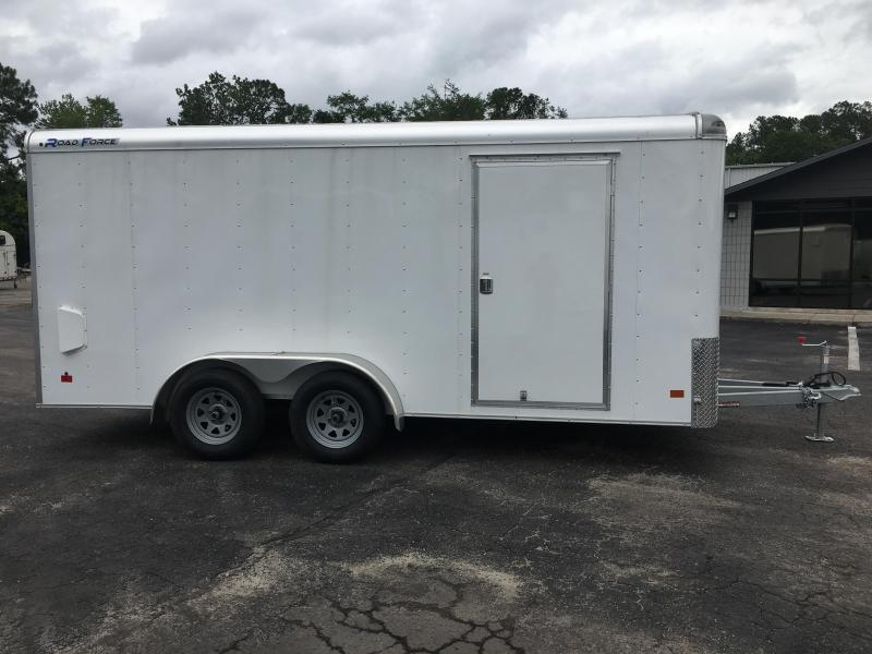 RF7X162 WELLS CARGO 7X16 ROAD FORCE ENCLOSED CARGO TRAILER W/ CABLE-LESS RAMP DOOR
