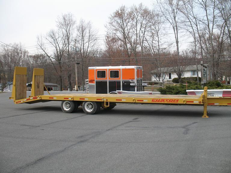 Custom Heavy Haul- 20 Ton Paver w/ Hydraulic Ramps Equipment Trailers