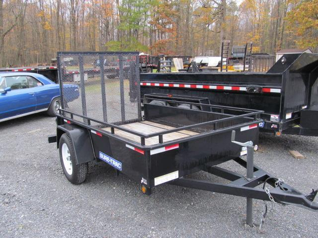 2013 Sure-Trac 5 x 8 Solid Sides Utility Trailer