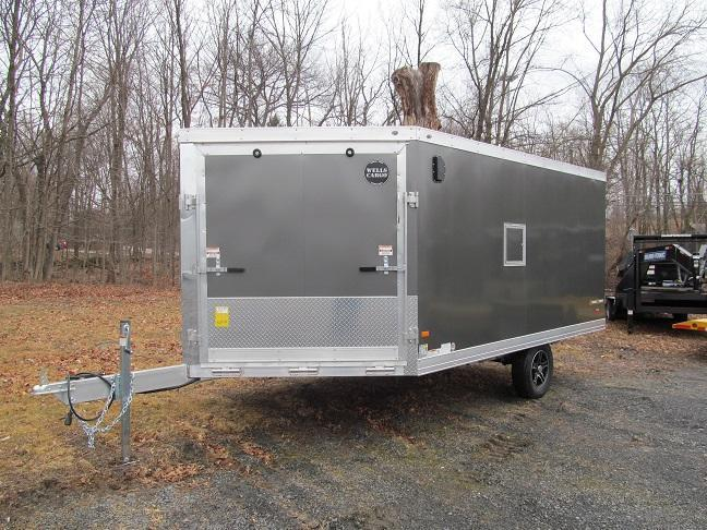 2016 Wells Cargo Silver Sport 2 Place Enclosed Snowmobile Trailer
