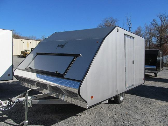2017 Mission 2 Place Crossover w/ Side Door Snowmobile Trailer
