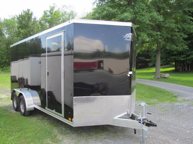 2018 ATC 7 X 16 Wedge Front Raven All Aluminum Enclosed Trailer