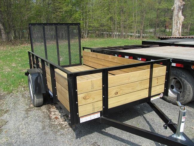 New utility trailers horse stock utility car for Wood floor utility trailer