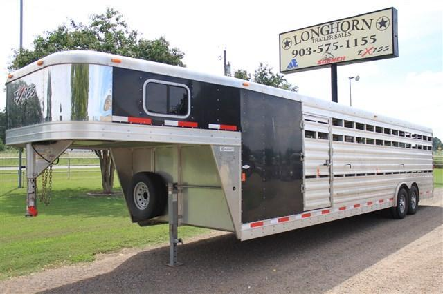 2015 Exiss Trailers 30' Show Cattle Combo with Side Ramp