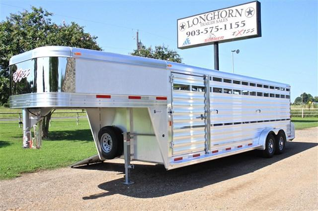 2018 Exiss Trailers 24 Stock Trailer with Side Ramp Livestock Trailer