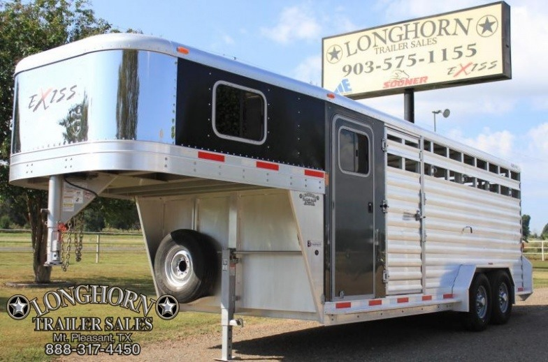 2013 Exiss Trailers 20 Stock Combo 7 Tall Livestock Trailer