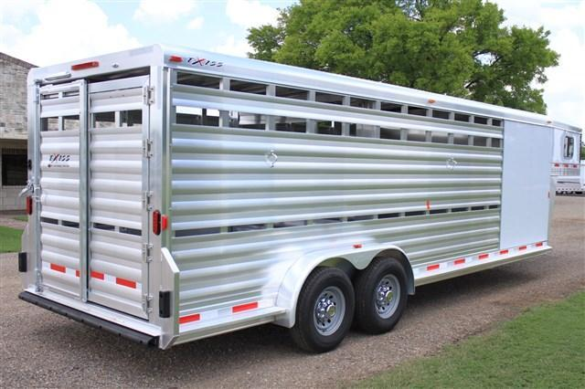 2018 Exiss Trailers 24' Stock Combo with a 6' Tack Room and Saddle Rck