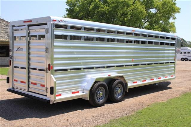 2018 Exiss Trailers 24' V- Nose Rancher Special- Heavy Duty Livestock Trailer