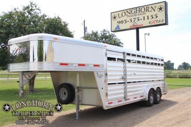 2017 Exiss Trailers 20' Show Cattle with Side Ramp Livestock Trailer