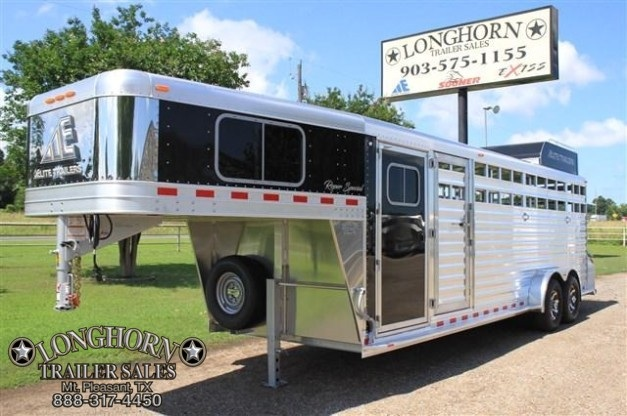 2017 Elite Trailers Roper Special with Double Saddle Racks Livestock Trailer