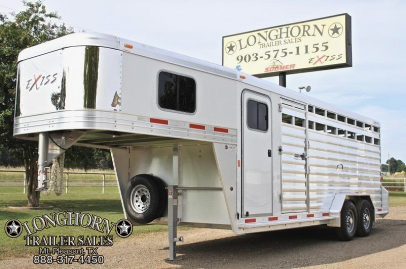 2018 Exiss  20' Stock Combo 7'2'' Tall with Saddle Rack