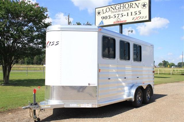2018 Exiss Trailers 3 Horse Bumper Pull with Front Tack