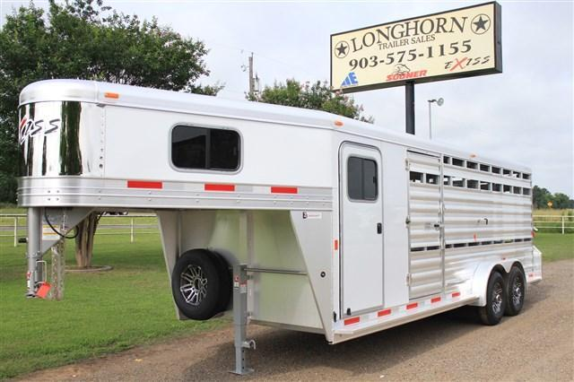 2018 Exiss Trailers  21' Show Cattle Combo *Bullet Nose*