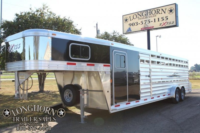 2018 Exiss 28' Show Cattle with Two Ramps and Float Gate