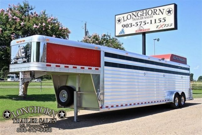 2017 Elite Trailers 8 Horse with Hayrack Horse Trailer