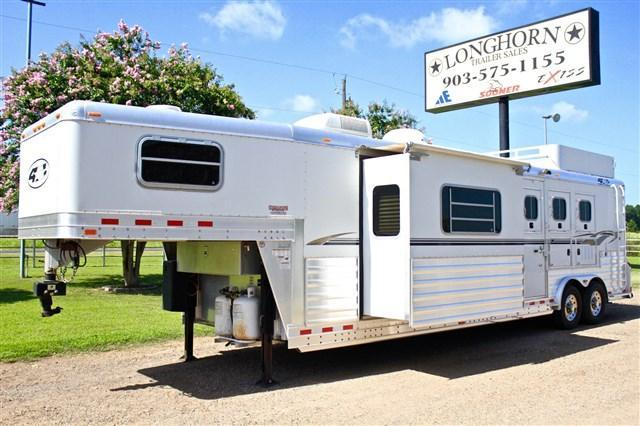 2006 4-Star Trailers 3 Horse with 14 Living Quarter with Slide Horse Trailer