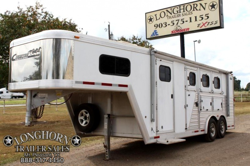 2005 Cimarron 3 Horse 8 Wide With Mangers *Trainer Style*