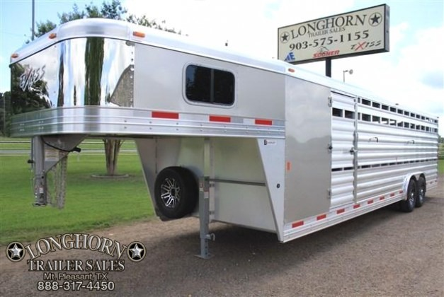 2018 Exiss Trailers 28' Stock Combo with Dressing Room & Side Ramp