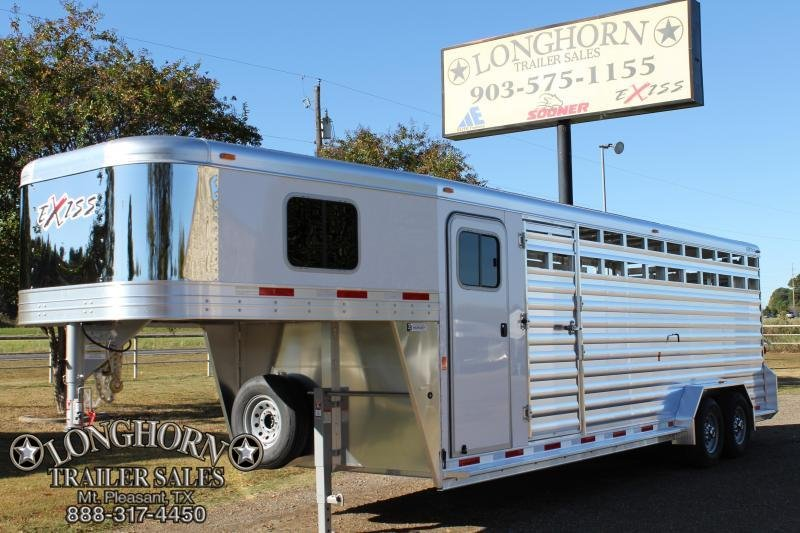 2018 Exiss 24' Stock Combo with 4' Tack Room Livestock Trailer