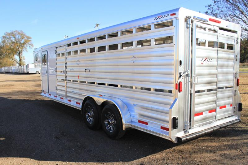 2018 Exiss 24 Show cattle combo/ side ramp