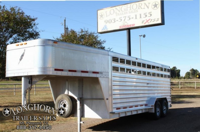 2008 Featherlite 20' x 7' Stock Trailer