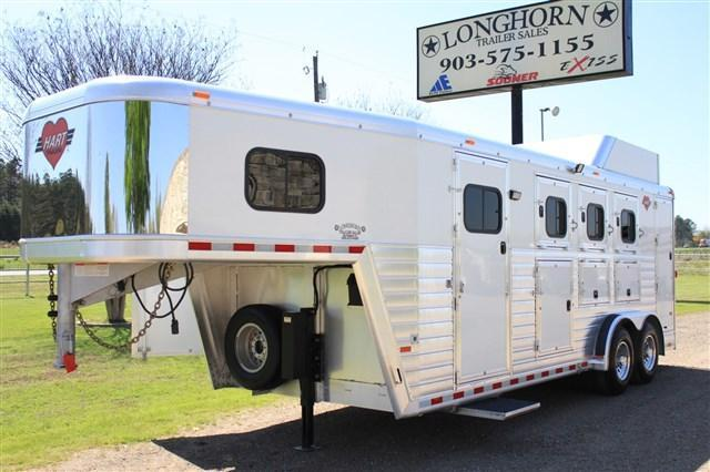 2015 Hart 3 Horse Smart Tack with Mangers/Hydraulic Jack
