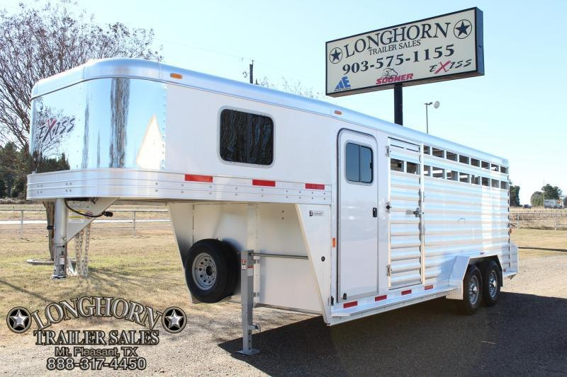 2018 Exiss 20ft Stock Combo with 4ft Tack and Saddle Rack
