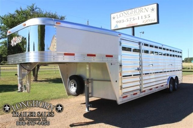2017 Exiss Trailers 24' Stock Trailer 8' Wide* with Mats Livestock Trailer