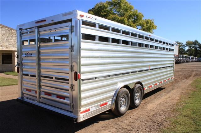 2018 Exiss Trailers 24' Stock Trailer 8' Wide* with Mats Livestock Trailer
