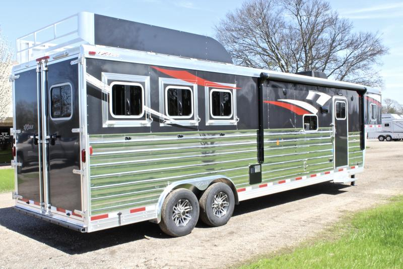 2018 Exiss 3 Horse 14ft Shortwall with Slide