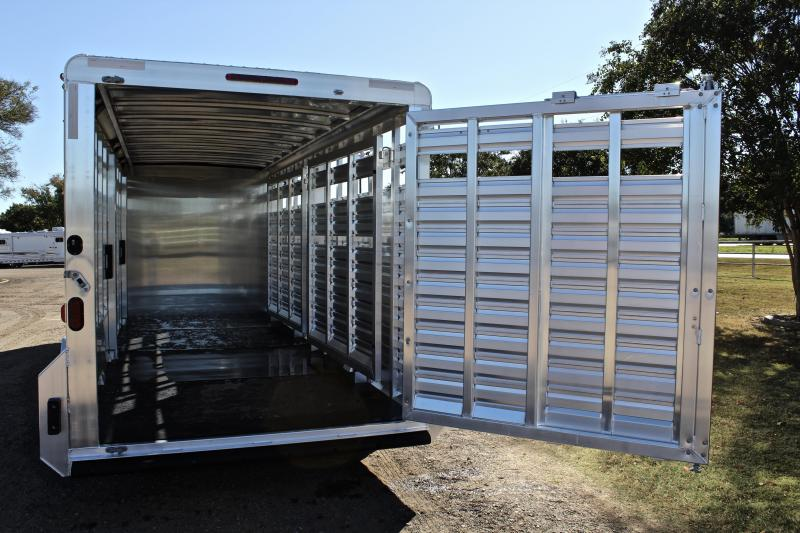 2018 Exiss Trailers 24' Stock Combo with Two Cut Gates