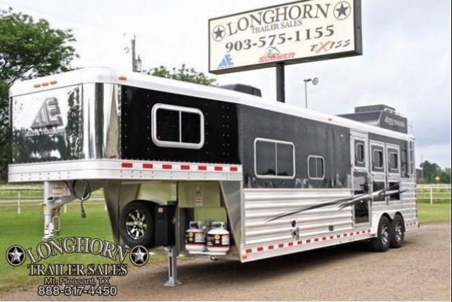 "2017 Elite Trailers 3 Horse with a 12'8"" Shortwall by Trail Boss Horse Trailer"
