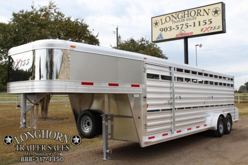 2018 Exiss 24' Stock Trailer with Side Ramp