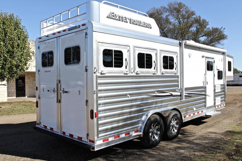 2018 Elite Trailers 3 Horse 8.8 Shortwall with Hayrack