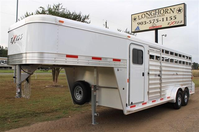 2017 Exiss Trailers 20' Stock Combo with a 4' Tack Room