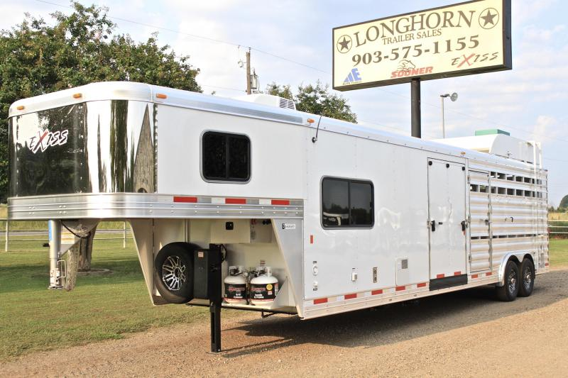 2017 Exiss Trailers 8 Stock LQ with Generator Livestock Trailer