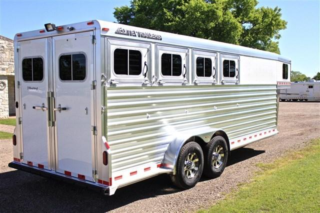 2019 Elite  4 Horse with Front and Rear Tack *Aluminum Wheels* Horse Trailer