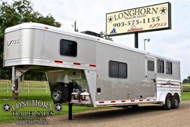 2018 Exiss Trailers 3 Horse with 11 Shortwall + Midtack Horse Trailer