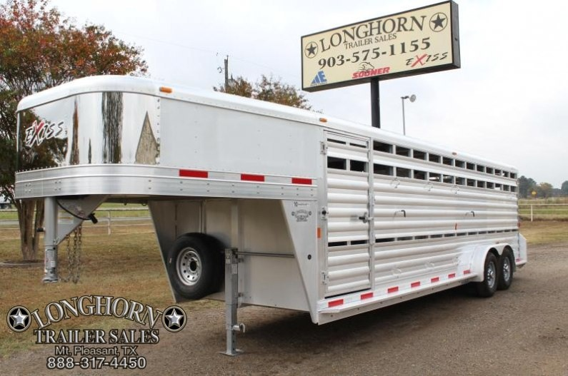 2015 Exiss Trailers 24ft Stock Trailer with Side Ramp