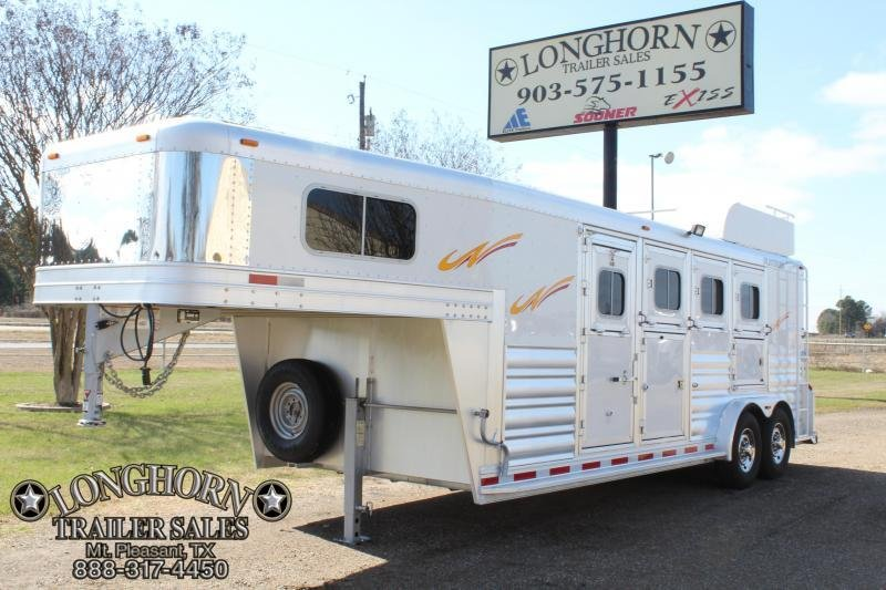 2015 Platinum 4 Horse with Mangers- 7.5ft Wide