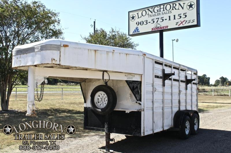 1999 Featherlite 14ft Stock Combo Livestock Trailer